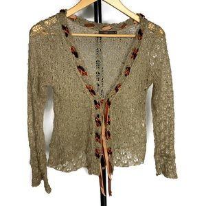 Hazel Anthropologie Light Knit Cardigan Sweater